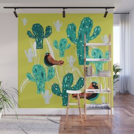 cactus with birds Wall Mural