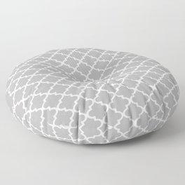 Grey Moroccan Pattern Floor Pillow