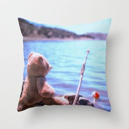 Have you ever seen a bear fishing? Throw Pillow