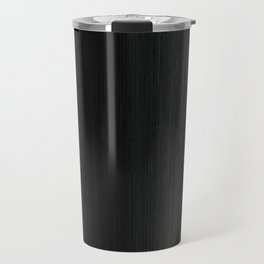 Algorithmic Linen Pure Black and Silver Steel Grey Travel Mug