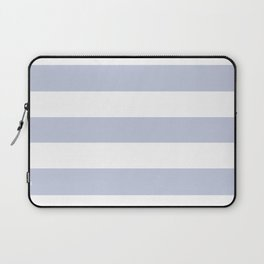 Light periwinkle - solid color - white stripes pattern Laptop Sleeve