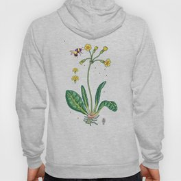 yellow cowslip and bee Hoody