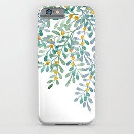 Mistletoe watercolor n.1 iPhone Case