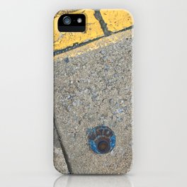 Blue Water Yellow Line iPhone Case