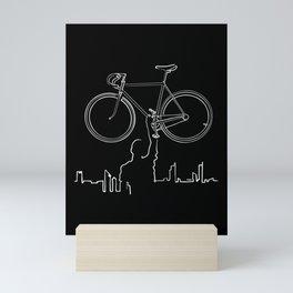 Share the road Mini Art Print