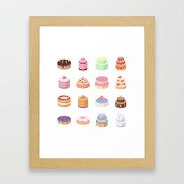 Birthday Cakes Framed Art Print