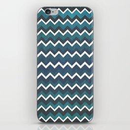 Blue Chevron iPhone Skin