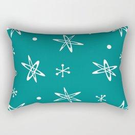 Atomic Era Space Age Teal Rectangular Pillow