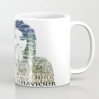 bjork Mugs featuring Bjork Human Behaviour  by b_ethany