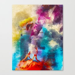 Duffle Bag Boy Canvas Print