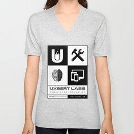 UXBERT Labs Chess Pattern Unisex V-Neck