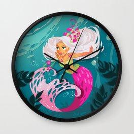 Paper mermaid Wall Clock