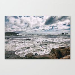 Stormy seas, Maine Canvas Print