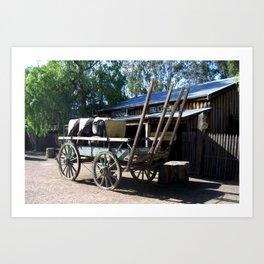 Wool Wagon Art Print