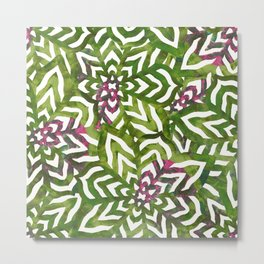 I don't need to improve - Green and pink Metal Print