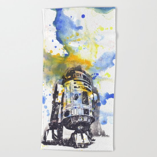 R2D2 from Star Wars Beach Towel