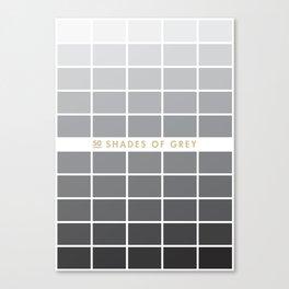 50 Shades of Grey // Alternative Movie Poster Canvas Print