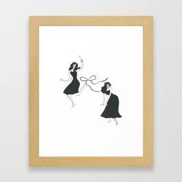 dance at this moment Framed Art Print
