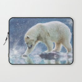 A polar bear at the water Laptop Sleeve