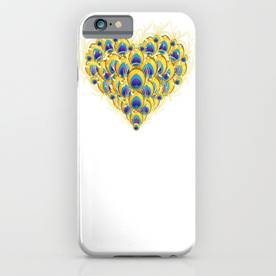 Peacock Heart iPhone & iPod Case