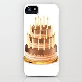 Big chocolate cake iPhone Case