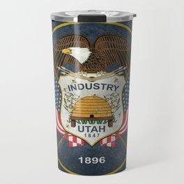 Utah State Flag, Vintage Version Travel Mug