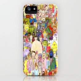The Fuzzy Crowd iPhone Case