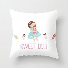 SWEET DOLL Throw Pillow