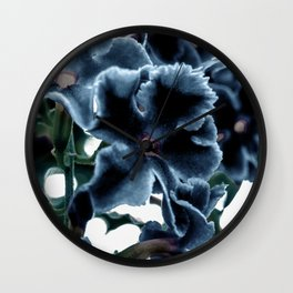 Frosty Flowers Wall Clock