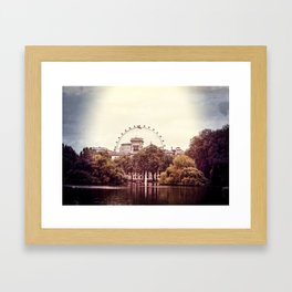 Whitehall & the London Eye from St James's Park Framed Art Print