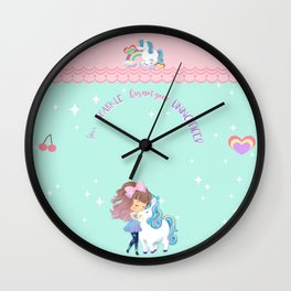 UNICORN kawaii Wall Clock