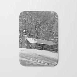 Cabin in the Snow Bath Mat