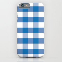 Goliath Biscayne Bay Blue Gingham Check Square Pattern iPhone Case