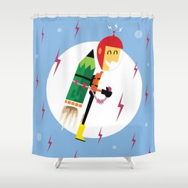 i-Rocketeer Shower Curtain
