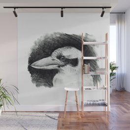 Kookaburra (Australian Bird) #illustration #bird Wall Mural