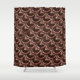 Precious Shimmering Copper Scales Shower Curtain
