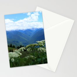 Olympic Mountains from Hurrican Ridge Stationery Cards