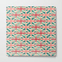 British/UK Flag Pattern Metal Print