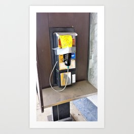Where have all the pay phones gone? #2 Art Print