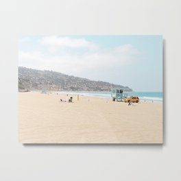 Redondo Beach // California Ocean Vibes Lifeguard Hut Surfing Sandy Beaches Summer Tanning Metal Print