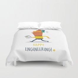 Happy Engineering Duvet Cover