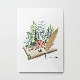 Book Metal Print