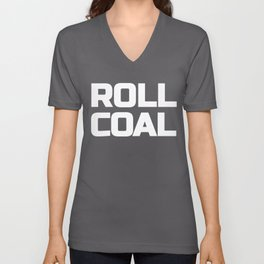 Roll Coal Text Truck 4X4 Power Offroad Unisex V-Neck