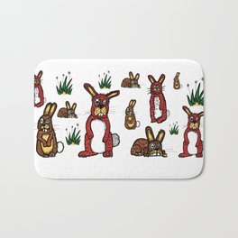 Stressed Rabbits on Acid Bath Mat