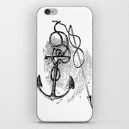 Anchor and harpoon. iPhone Skin