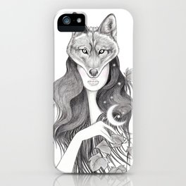 Wolf Woman iPhone Case
