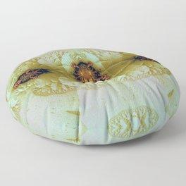 Antique Insect Jewel 4 Floor Pillow