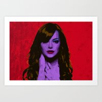 emma stone Art Prints featuring Emma Stone by Bolin Cradley Art