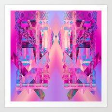 Taj Digi Collage Art Print