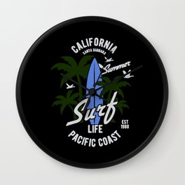 california surf Wall Clock